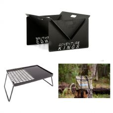 Kings Portable Steel Fire Pit  + Essential BBQ Plate + Portable Fire Pit Bag
