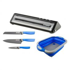 Adventure Kings Vacuum Sealer + 4-Piece Camping Chef's Knives Kit + Collapsible Sink