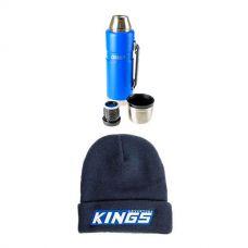 Kings 1.2L Vacuum Flask + Camper's Beanie