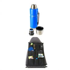 Kings 1.2L Vacuum Flask + Car Seat Organiser