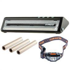 Adventure Kings Vacuum Sealer + Adventure Kings Vacuum Sealer Rolls 3-Pack + Illuminator LED Head Torch
