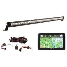 """VMS Touring 700 HDX + Kings 40"""" Slim Line LED Light Bar + Wiring Harness"""