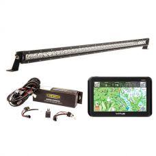 """VMS Touring 700 HDX + Kings 40"""" Slim Line LED Light Bar + Bar Wiring Harness"""