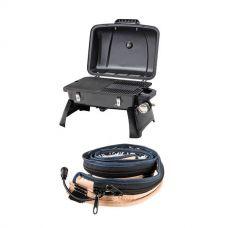 Gasmate Voyager Portable BBQ + LED Strip Light