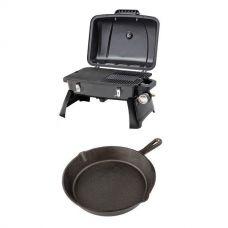 Gasmate Voyager Portable BBQ + Skillet Pan