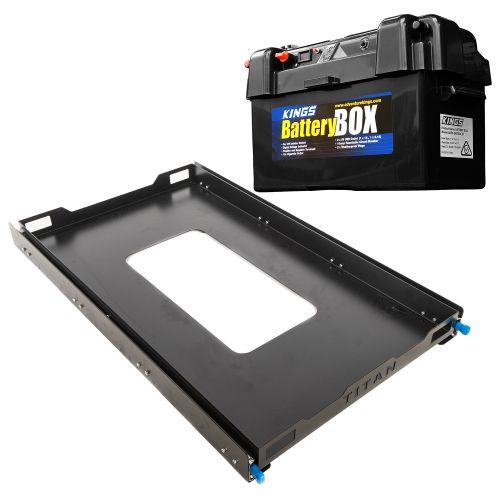 Adventure Kings Titan 100L Fridge Slide + Maxi Battery Box