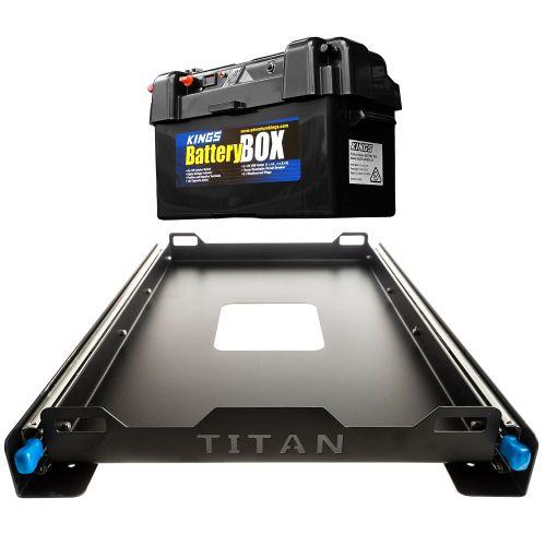Titan 60L Fridge Slide + Maxi Battery Box