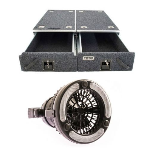Titan Drawer System - 1070mm + 2in1 LED Light & Fan