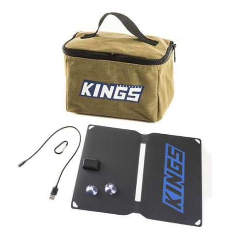 Adventure Kings Toiletry Canvas Bag + 10W Portable Solar Kit