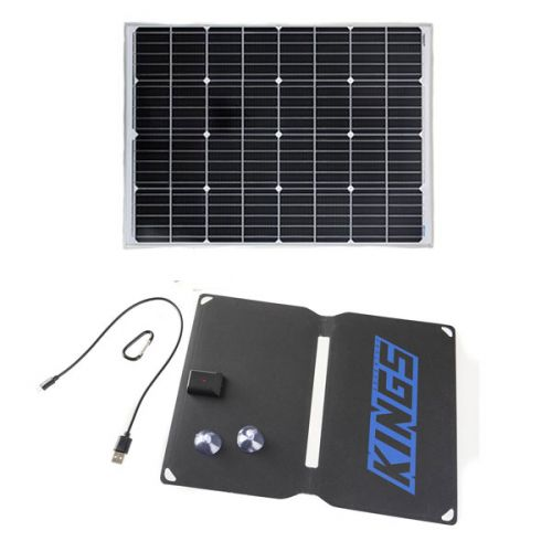 Adventure Kings 110w Fixed Solar Panel + 10W Portable Solar Kit