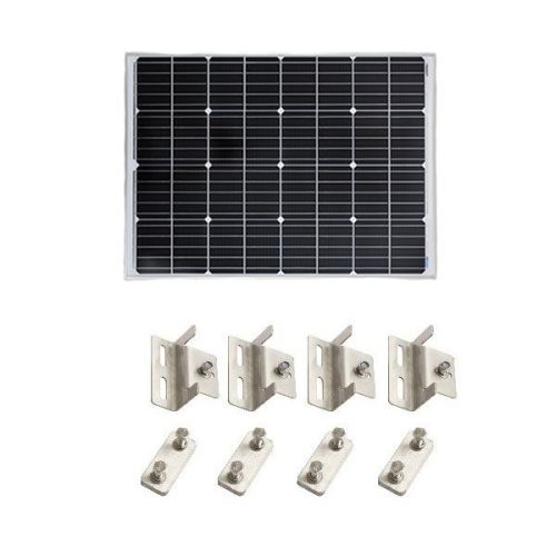 Adventure Kings 110w Fixed Solar Panel + Solar Panel Mounting Brackets to Suit Kings 110W Fixed Solar Panel
