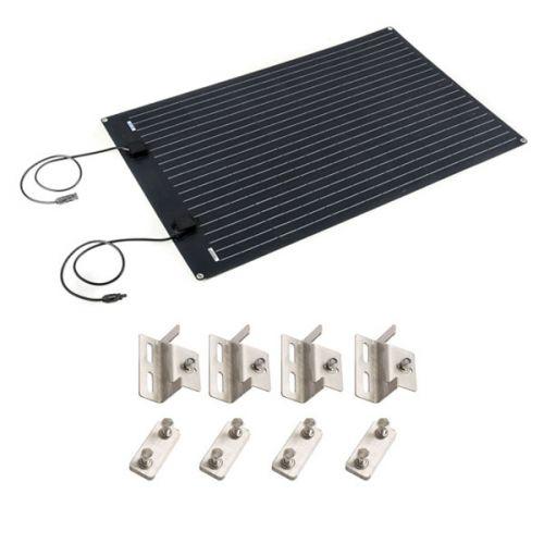 Adventure Kings 110W Semi-Flexible Solar Panel + Solar Panel Mounting Brackets