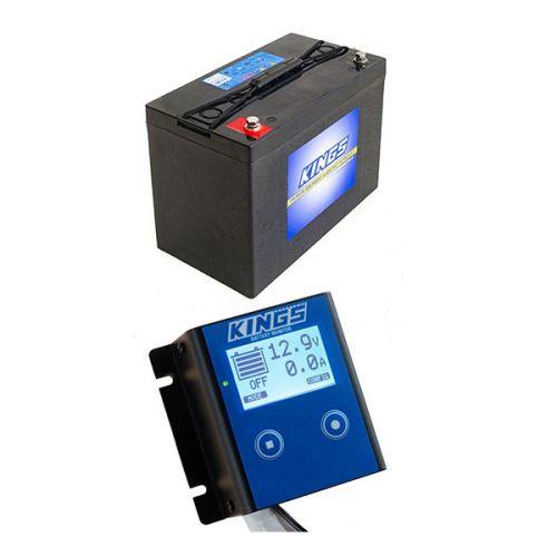 Adventure Kings AGM Deep Cycle Battery 115AH + 12V Battery Monitor
