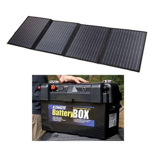 Adventure Kings 120W Solar Blanket with MPPT Regulator + Maxi Battery Box
