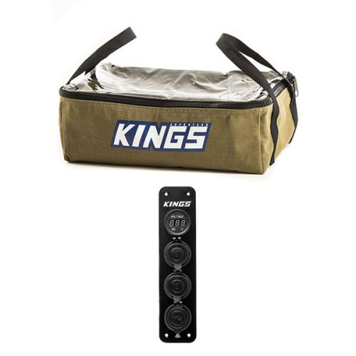 12V Accessory Panel + Adventure Kings Clear Top Canvas Bag