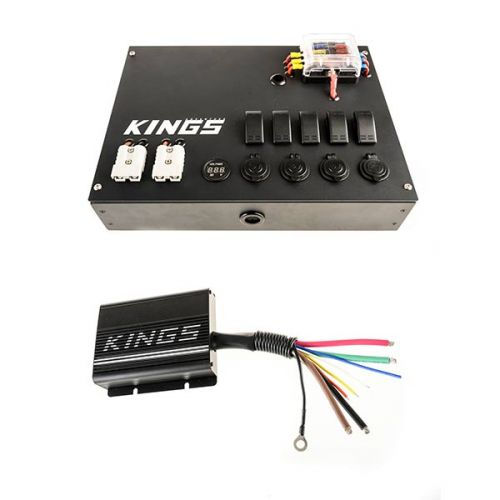 12V Control Box + Adventure Kings 25AMP DC-DC Charger (with MPPT SOLAR)