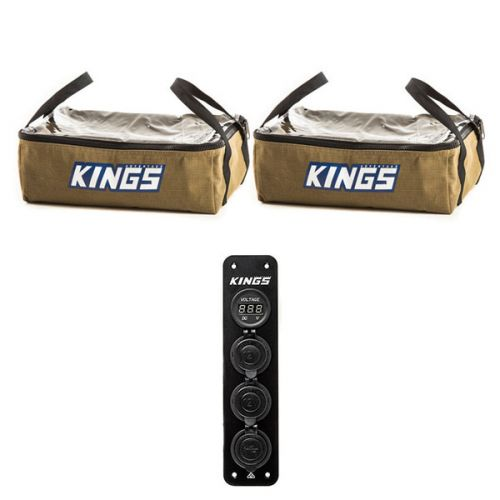2 x Adventure Kings Clear Top Canvas Bag + 12V Accessory Panel