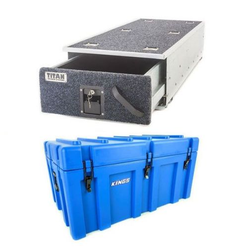Titan Single Ute Drawer 1300mm + Kings 78L Tough Storage Box