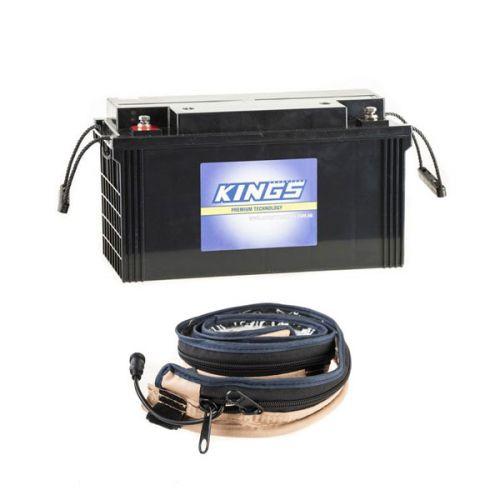 Kings 138Ah AGM Deep-Cycle Battery + LED Strip Light