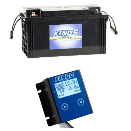 Adventure Kings 138Ah AGM Deep-Cycle Battery + 12V Battery Monitor