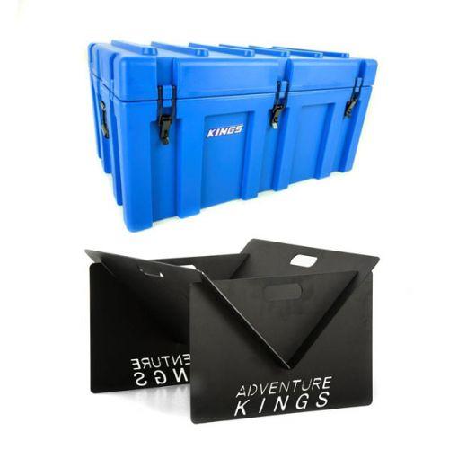 Adventure Kings 156L Storage Box + Portable Steel Fire Pit