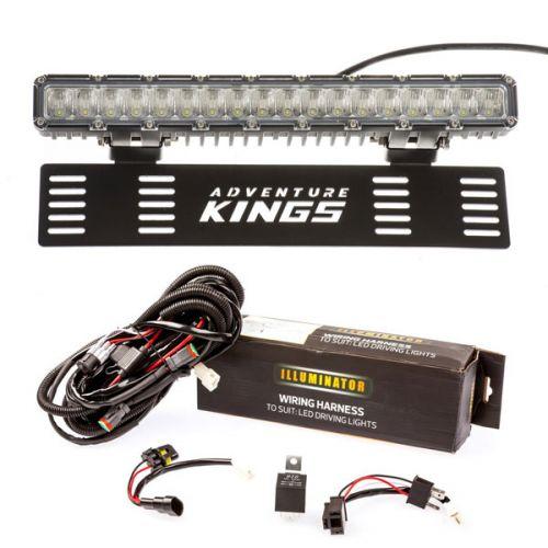 "15"" Numberplate LED Light Bar + Bar Wiring Harness"