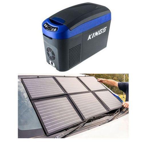 Adventure Kings 15L Centre Console Fridge/Freezer + 120w Solar Blanket