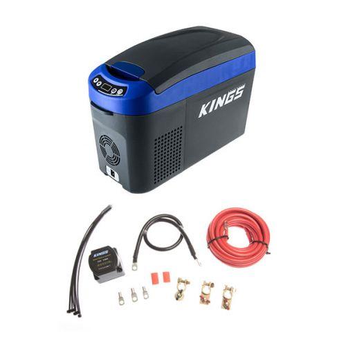 Adventure Kings 15L Centre Console Fridge/Freezer + Dual Battery System