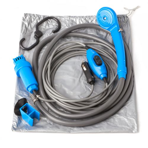 12v Portable Shower Kit | Adjustable to 4L/min | Works w/Any Water Source | Adventure Kings