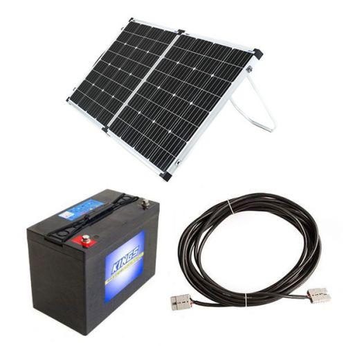 Adventure Kings AGM Deep Cycle Battery 115AH + Adventure Kings 160w Solar Panel + 10m Lead For Solar Panel Extension
