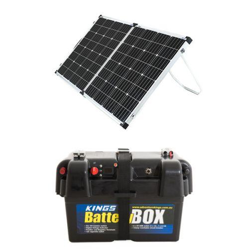 Adventure Kings 160w Solar Panel + Battery Box