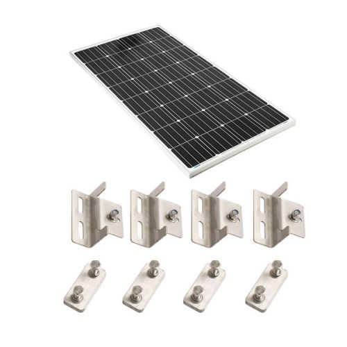 Adventure Kings 160w Fixed Solar Panel + Mounting Brackets
