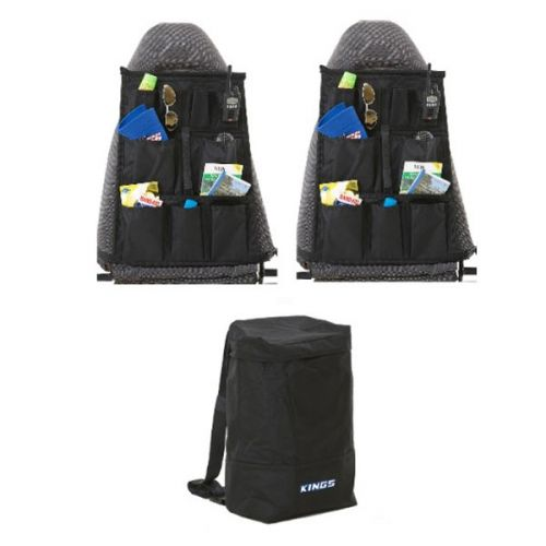 Adventure Kings Dirty Gear Bag + 2x Adventure Kings Car Seat Organisers