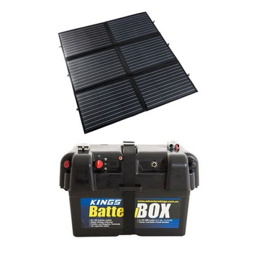 Adventure Kings 200W Portable Solar Blanket + Adventure Kings Battery Box