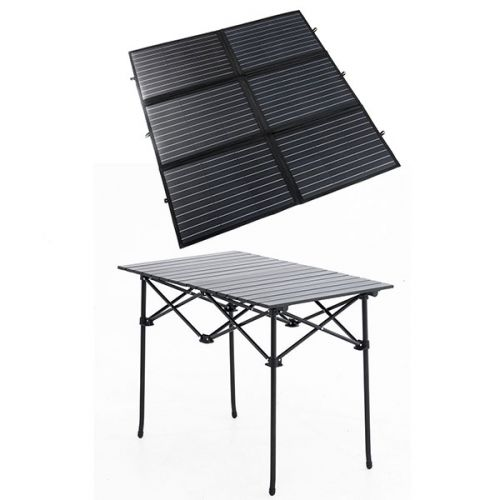 Adventure Kings 200W Portable Solar Blanket + Portable Alloy Camping Table