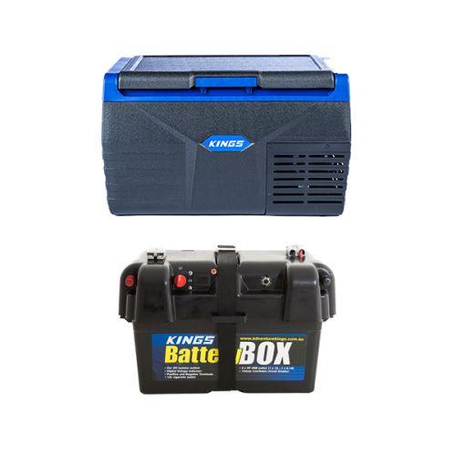Kings 20L Fridge / Freezer + Battery Box