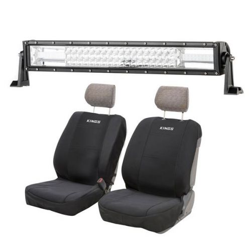 "Adventure Kings Domin8r 22"" LED Light Bar + Adventure Kings - Neoprene Front Seat Covers (Pair)"