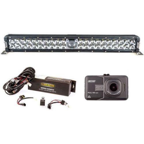 "Adventure Kings 24"" Laser Light Bar + Bar Wiring Harness + Dash Camera"