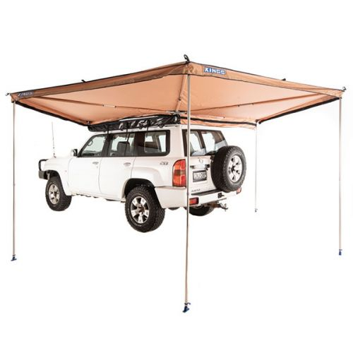 270° King Wing Awning | Integrated Pole System | 11sqm Sheltered Area | 1min Setup | Ultra-High Quality | Adventure Kings