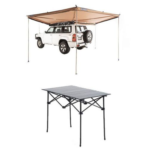 270° King Wing Awning + Roll up Camping Table