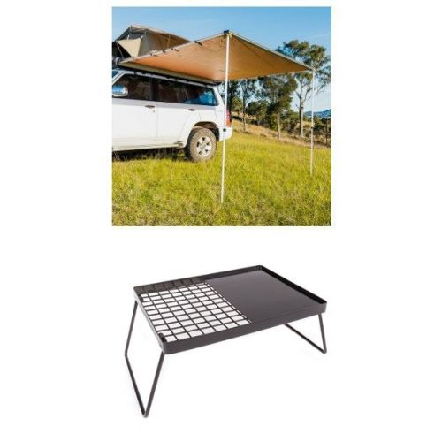 2.5 x 2.5m 2 in 1 Awning + Strip Light  + Essential BBQ Plate