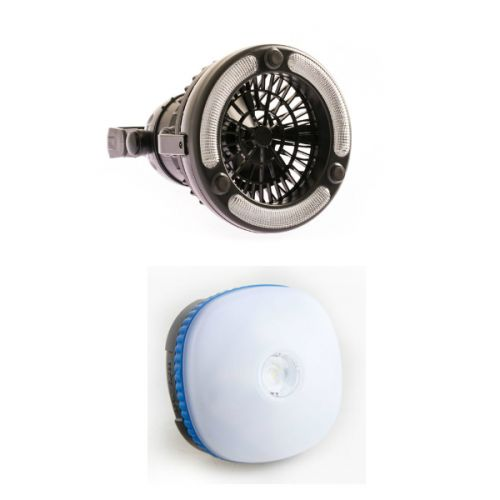 Adventure Kings 2in1 LED Light & Fan + Mini Lantern