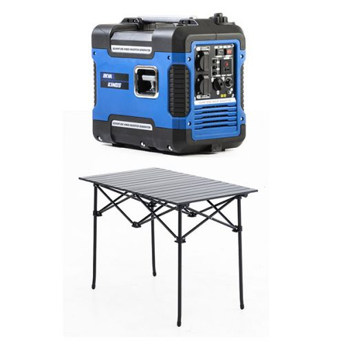 Adventure Kings 2KVA Generator Closed Case + Aluminium Roll-Up Camping Table