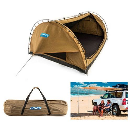 Adventure Kings Big Daddy Double Swag + Big Daddy Polyester Bag + Awning 2x2.5m
