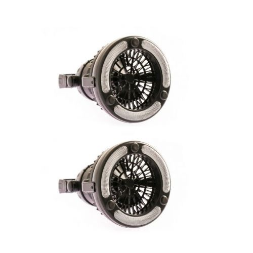 2x Adventure Kings 2in1 LED Light & Fan