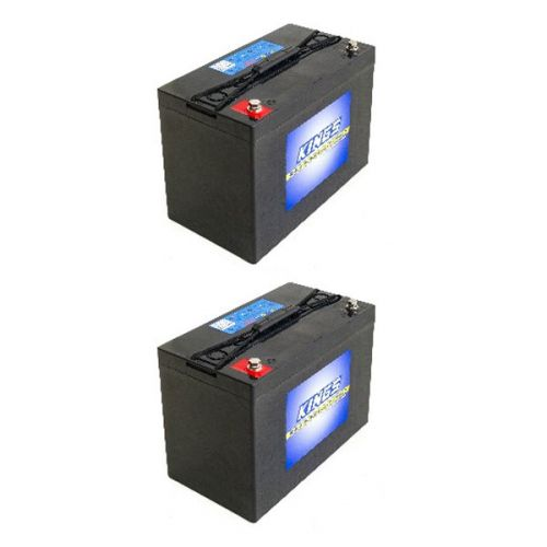 2x Adventure Kings AGM Deep Cycle Battery 115AH