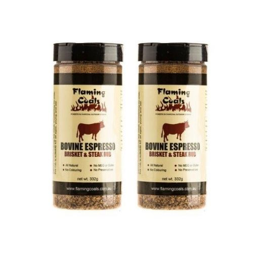 2x Flaming Coals Bovine Espresso Brisket & Steak Rub