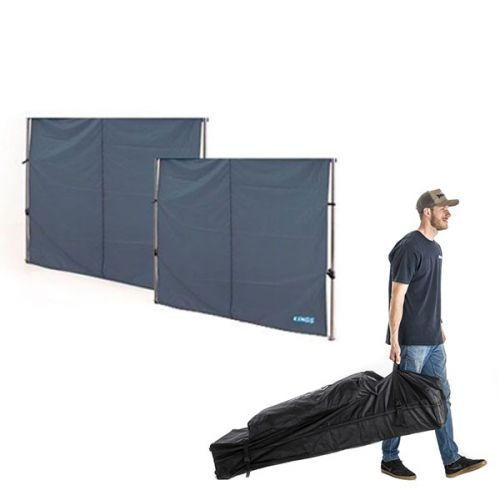 2x Adventure Kings Gazebo Side Wall + 6x3m Wheeled Gazebo Bag