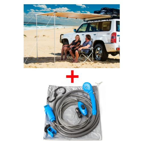 Adventure Kings Awning 2x2.5m + Adventure Kings Portable Shower Kit