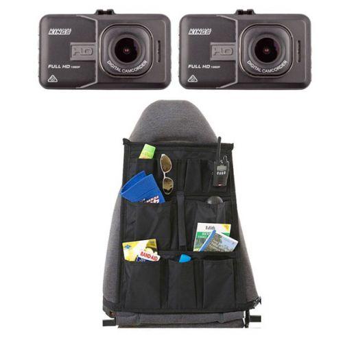 2x High-Def Dash Camera + Car Seat Organiser